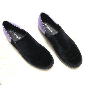 Free People Shoes - Free people varsity slip on purple/black sneakers